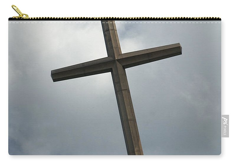 Giant Cross At St Augustine Carry-all Pouch featuring the photograph Christian Cross by Bob Pardue