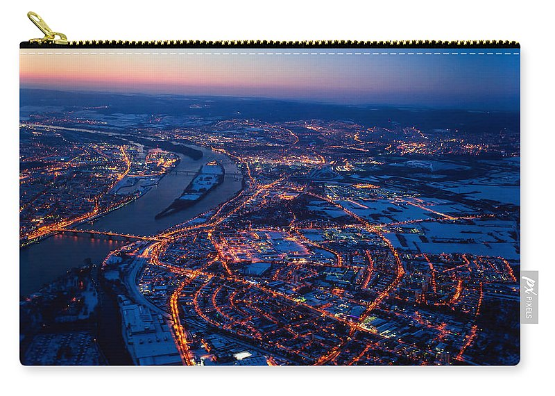 Frankfurt Carry-all Pouch featuring the photograph Christmas At Frankfurt Am Main by Jenny Rainbow
