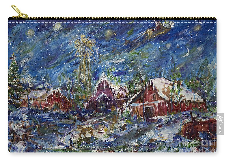 Holiday Cards Carry-all Pouch featuring the painting Christmas by Avonelle Kelsey