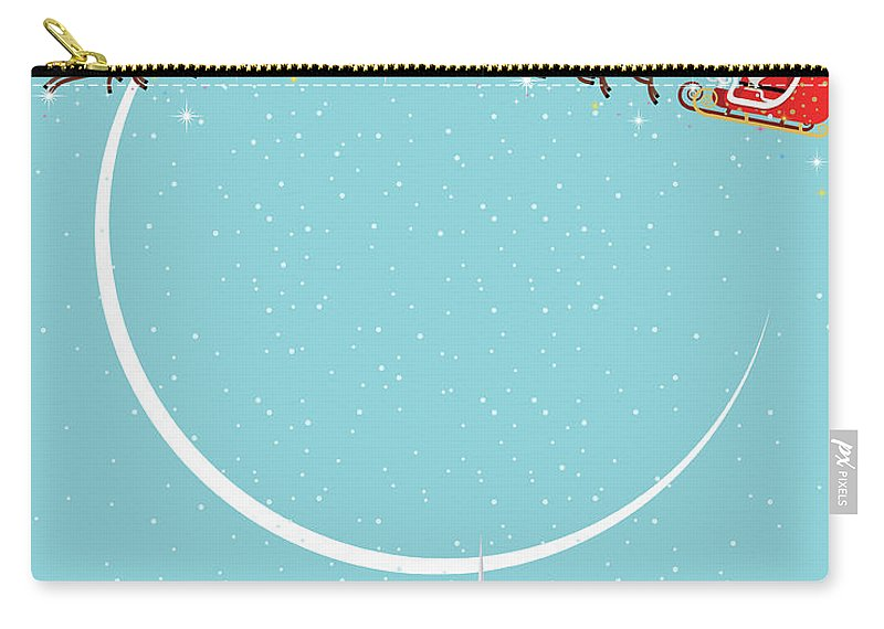 Holiday Carry-all Pouch featuring the digital art Christmas Background by Akindo