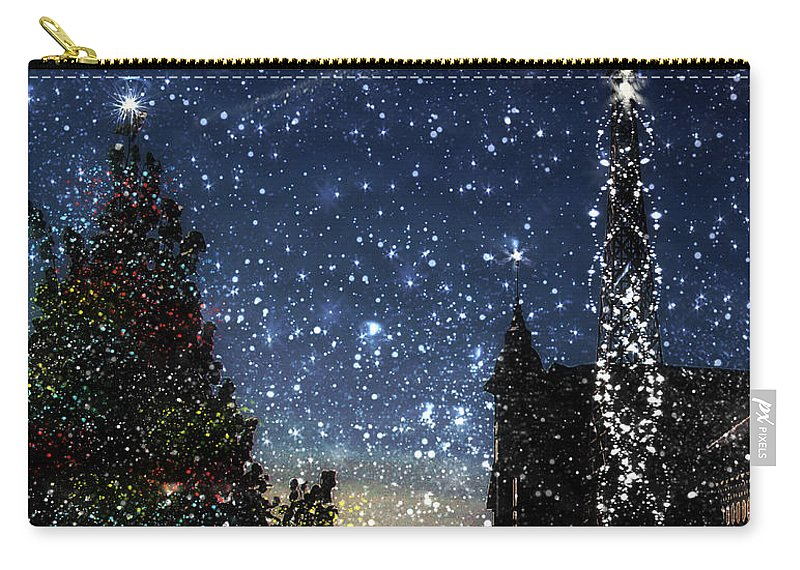 Christmas Carry-all Pouch featuring the painting Christmas Baroque by RC deWinter