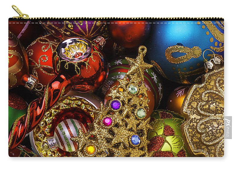Christmas Beauty Wonderful Ornaments Carry-all Pouch featuring the photograph Christmas Beauty by Garry Gay