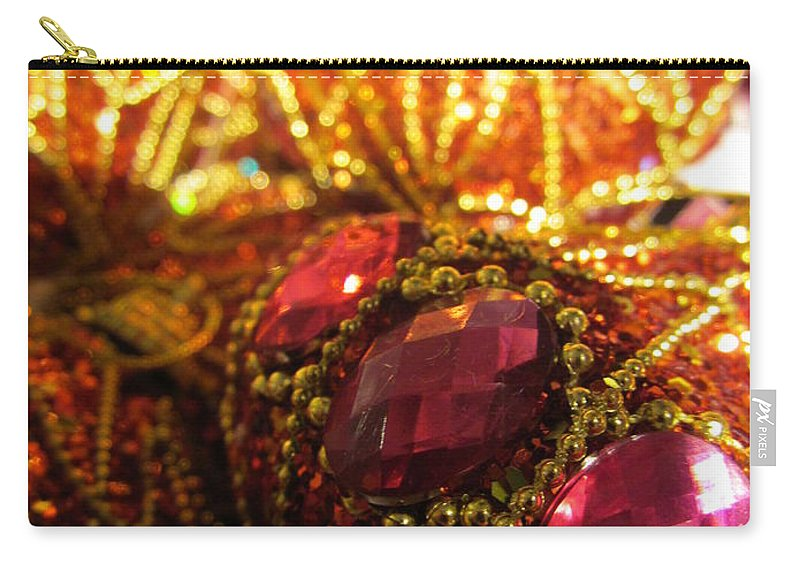 Christmas Carry-all Pouch featuring the photograph Christmas Blingbling by Rosita Larsson