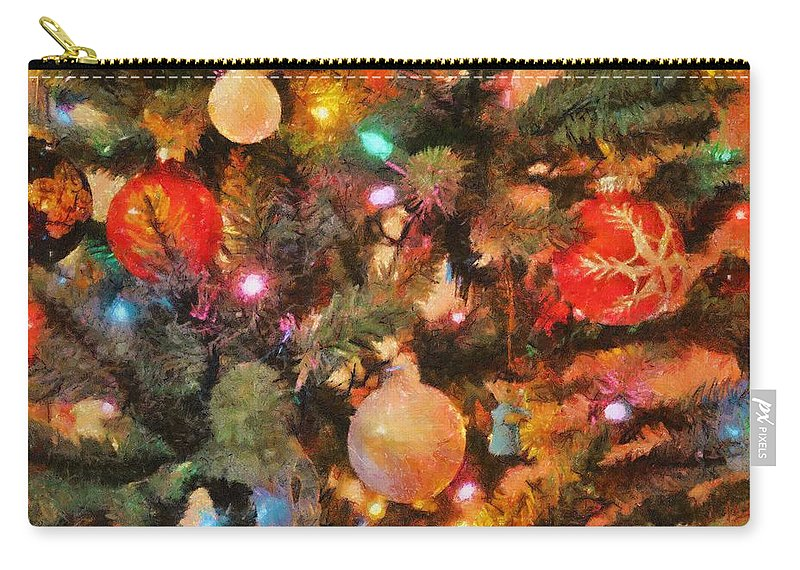 Angel Carry-all Pouch featuring the painting Christmas Branches by Jeffrey Kolker