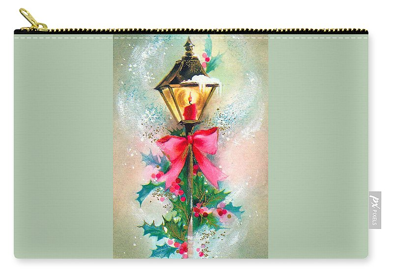 Christmas Carry-all Pouch featuring the photograph Christmas Candle by Munir Alawi