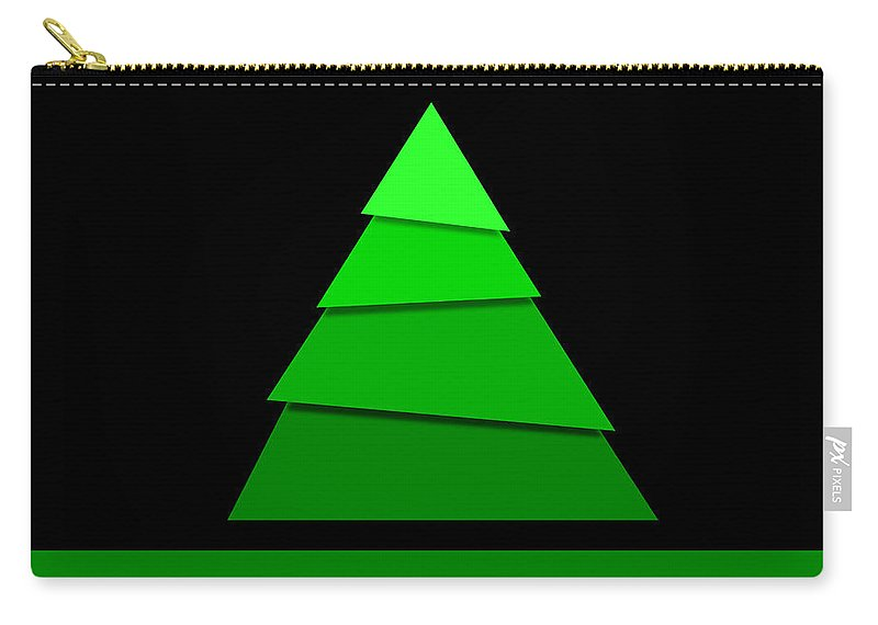 Christmas Carry-all Pouch featuring the digital art Christmas Card 11 by Martin Capek