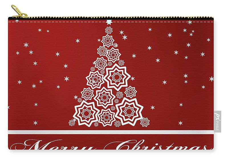 Christmas Carry-all Pouch featuring the digital art Christmas Card 12 by Martin Capek