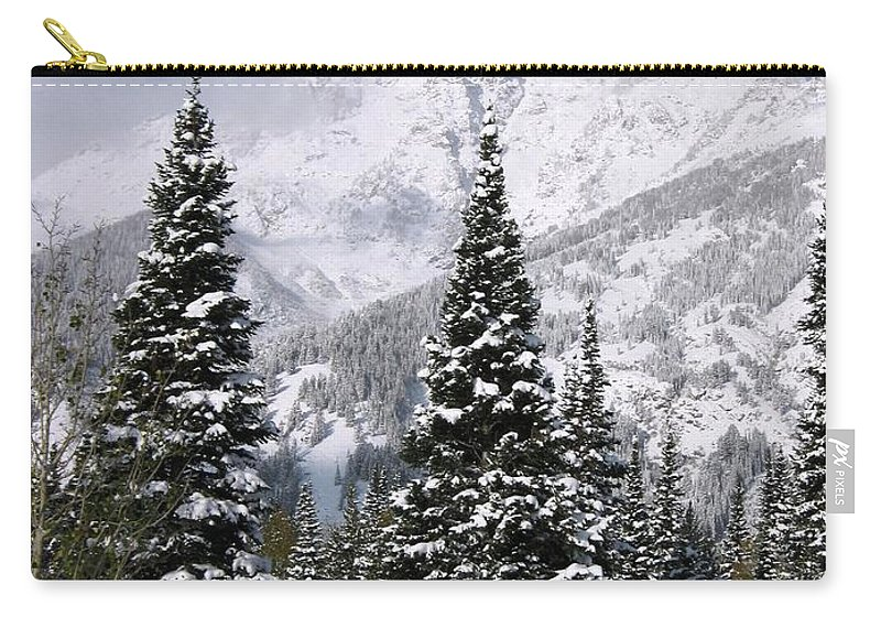 Snow Carry-all Pouch featuring the photograph Christmas Card Perfect by Deanna Cagle