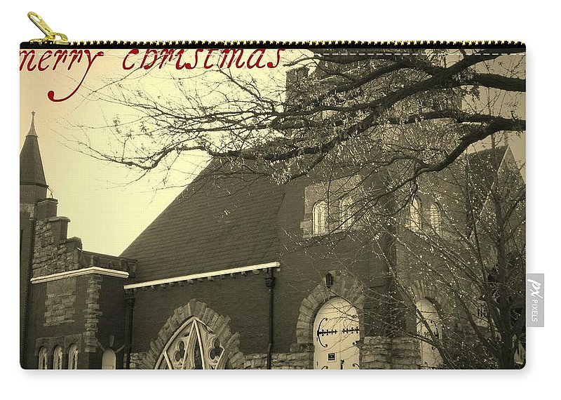 Christmas Carry-all Pouch featuring the photograph Christmas Chapel by Chris Berry