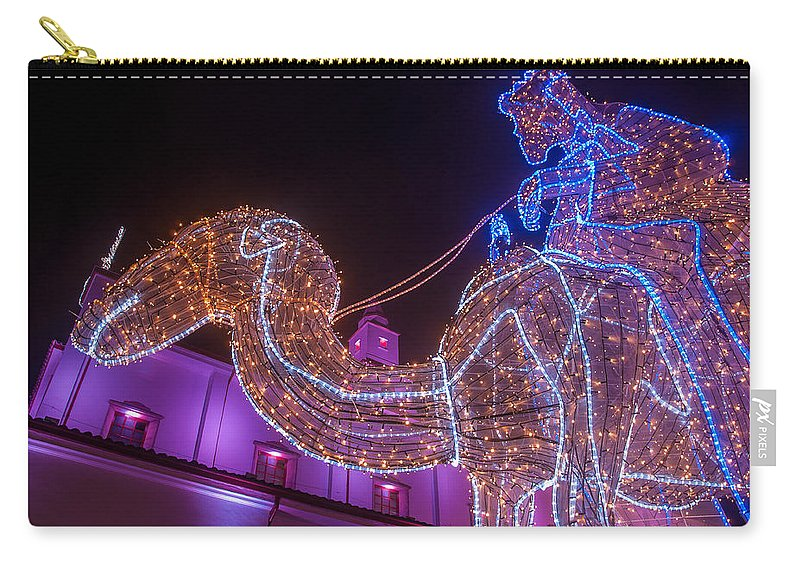 Night Carry-all Pouch featuring the photograph Christmas Decorations by Jess Kraft
