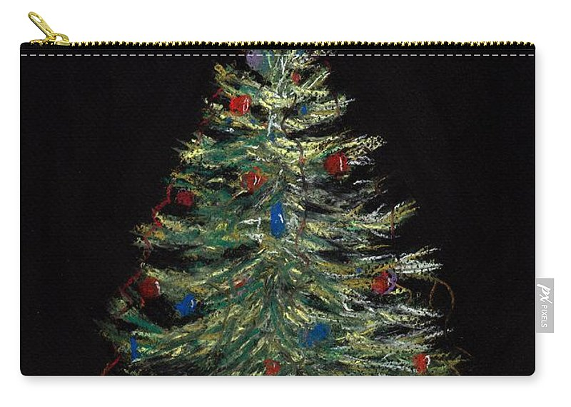 Single Carry-all Pouch featuring the painting Christmas Eve by Anastasiya Malakhova