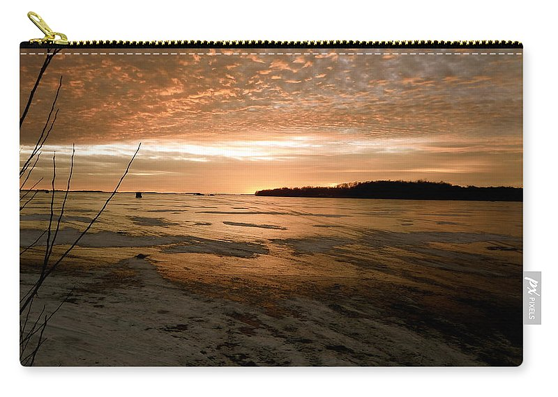Winter Carry-all Pouch featuring the photograph Christmas Ice by Jacqueline Athmann