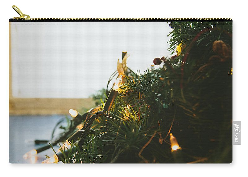 Decoration Carry-all Pouch featuring the photograph Christmas Lights by Pati Photography