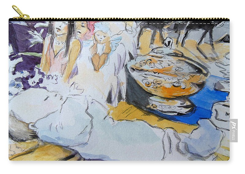 Christmas Carry-all Pouch featuring the painting Christmas by Lucia Hoogervorst