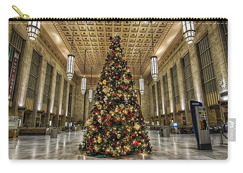 Christmas Carry-all Pouch featuring the photograph Christmas On 30th Street by Rob Dietrich