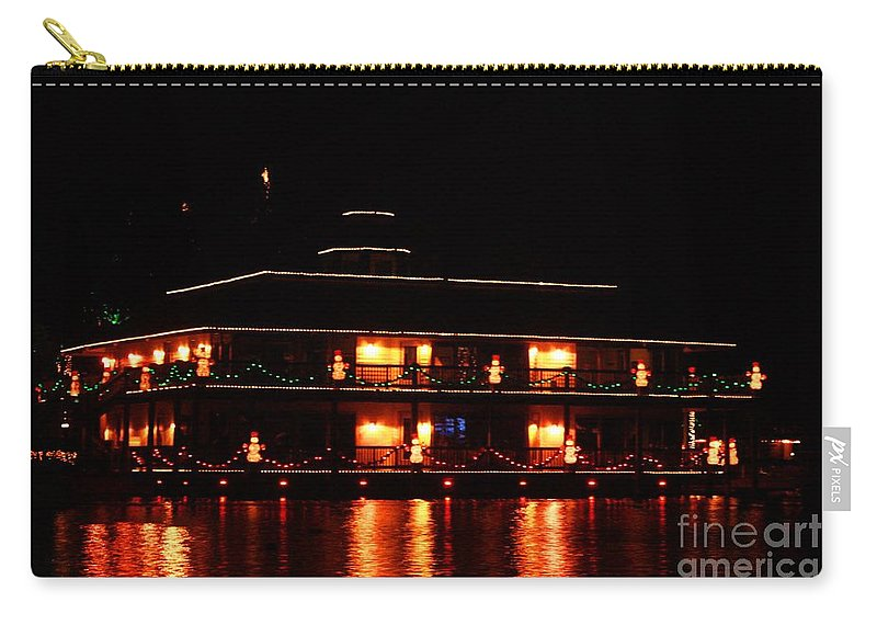 East Lake Carry-all Pouch featuring the photograph Christmas On East Lake 2 by Tommy Anderson