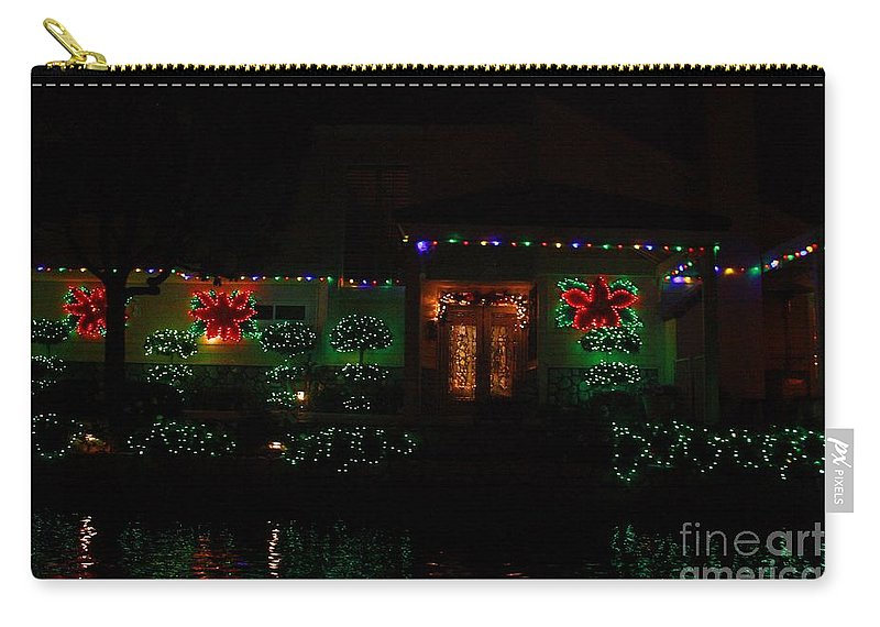 East Lake Carry-all Pouch featuring the photograph Christmas On East Lake 3 by Tommy Anderson