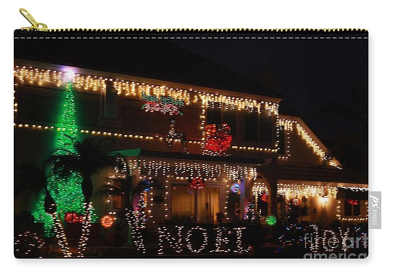 East Lake Carry-all Pouch featuring the photograph Christmas On East Lake by Tommy Anderson