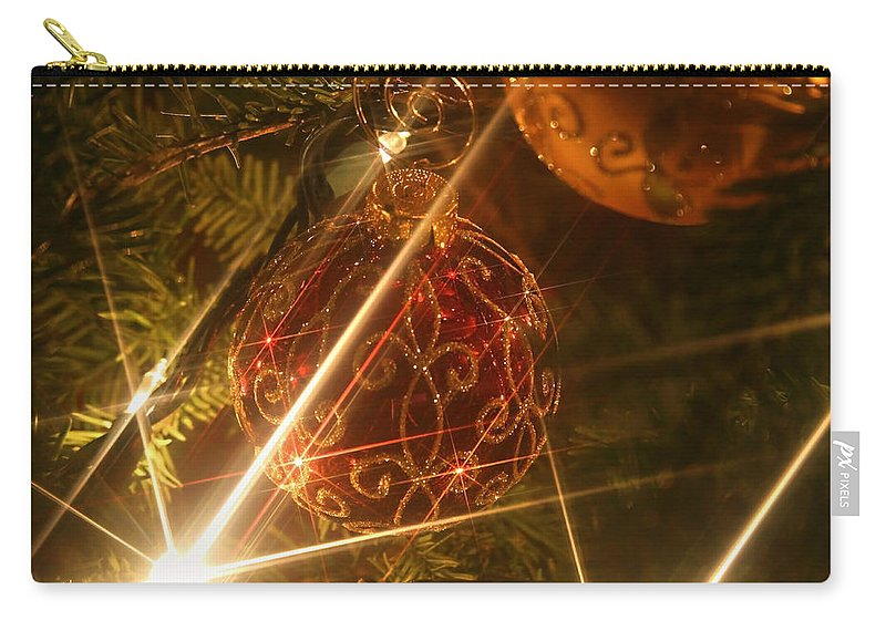 Christmas Ornaments Carry-all Pouch featuring the photograph Christmas Ornaments 1 by Ellen Henneke