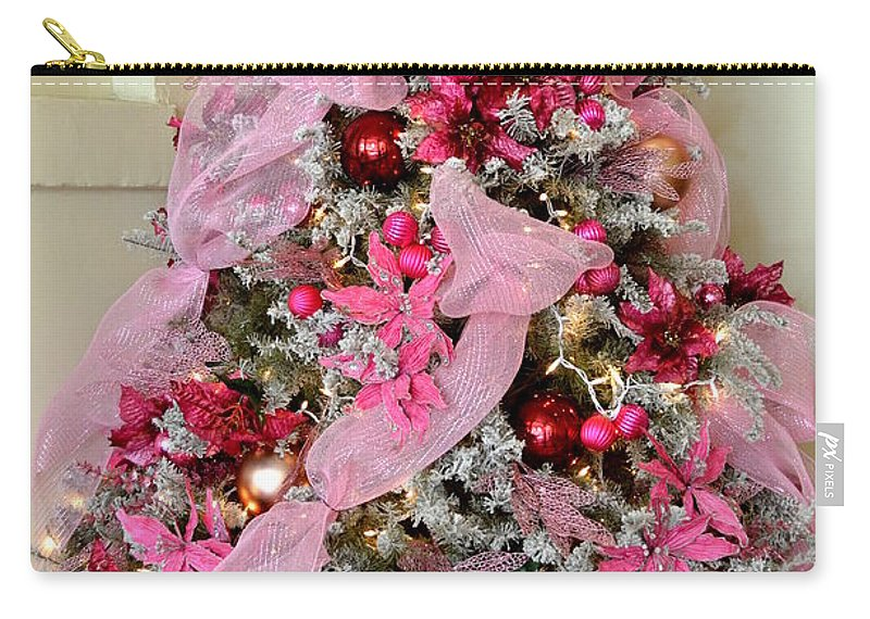 Christmas Carry-all Pouch featuring the photograph Christmas Pink by Mary Deal