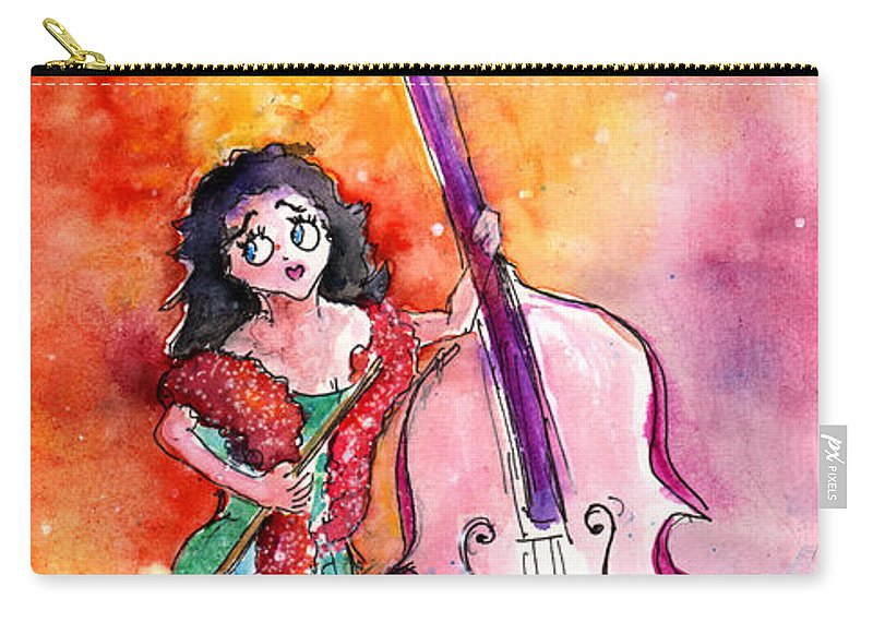 Travel Carry-all Pouch featuring the painting Christmas Sea Bass by Miki De Goodaboom
