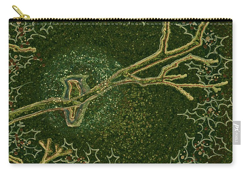 First Star Art Carry-all Pouch featuring the drawing Christmas Songbird by First Star Art