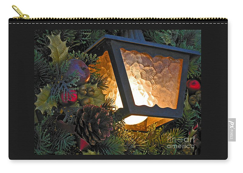 Christmas Carry-all Pouch featuring the photograph Christmas Welcome by Ann Horn
