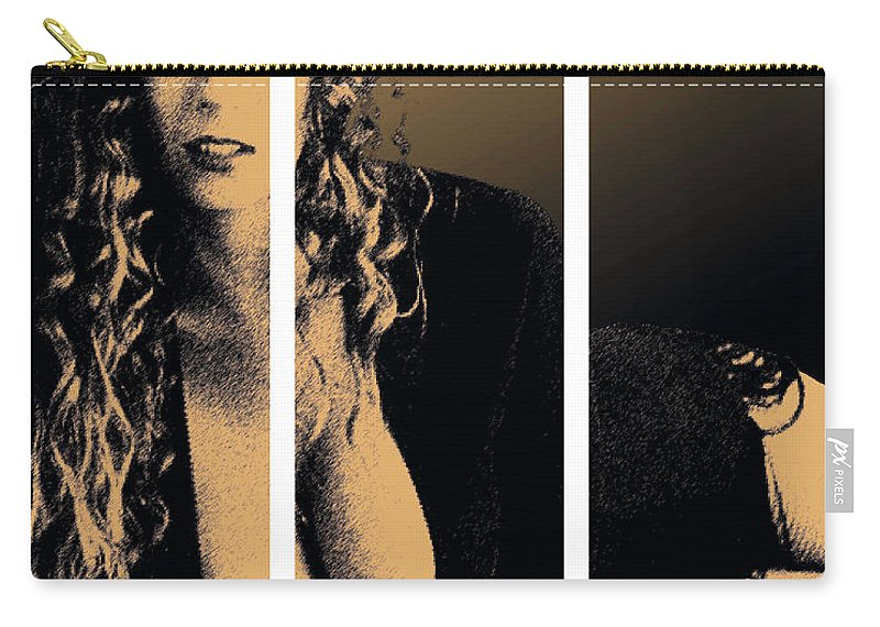 Pornstar Carry-all Pouch featuring the digital art Christy Canyon In Copper by Dale Loos Jr