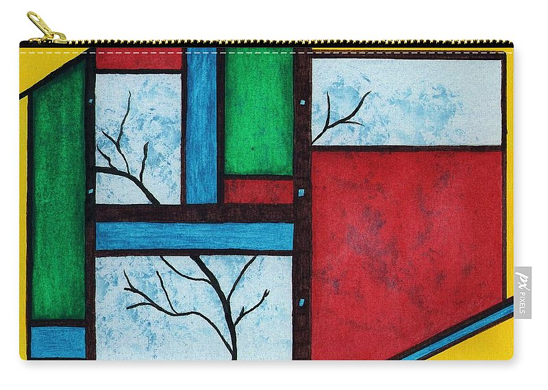 Abstract Carry-all Pouch featuring the painting Chromatic Vision by Linda Wimberly