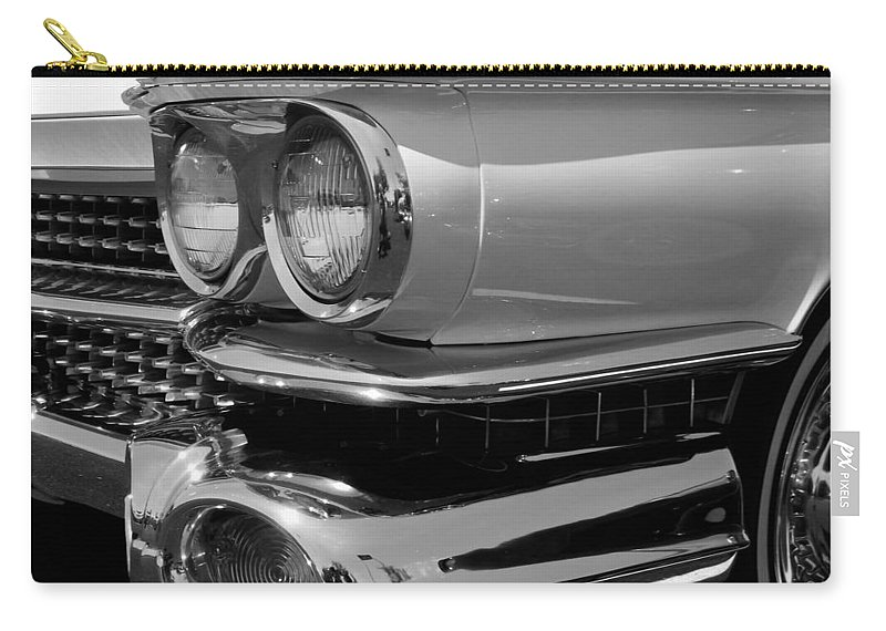 Vintage Car Carry-all Pouch featuring the photograph Chrome Dreams by Kristie Bonnewell