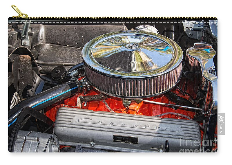 Cars Carry-all Pouch featuring the digital art Chrysler by Carol Ailles