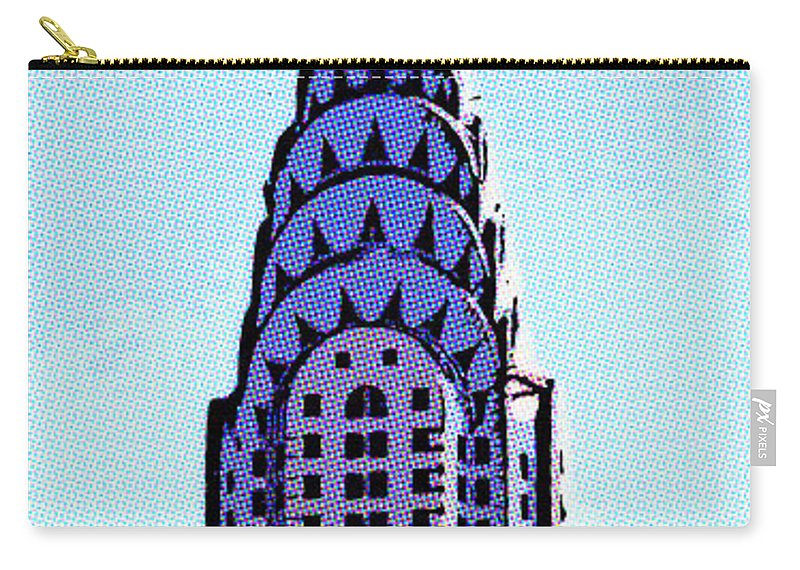 Chrysler Building Carry-all Pouch featuring the digital art Chrysler Spire Nyc Usa by Liz Leyden