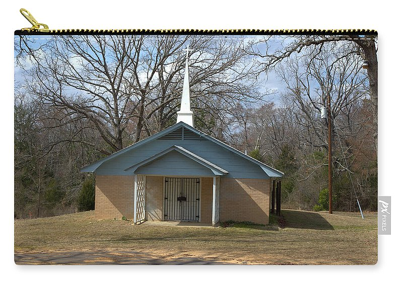 Church Carry-all Pouch featuring the photograph Church Bars by Darrell Clakley