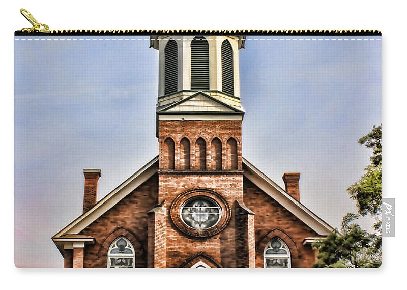 Carry-all Pouch featuring the photograph Church In Sprague Washington 2 by Cathy Anderson