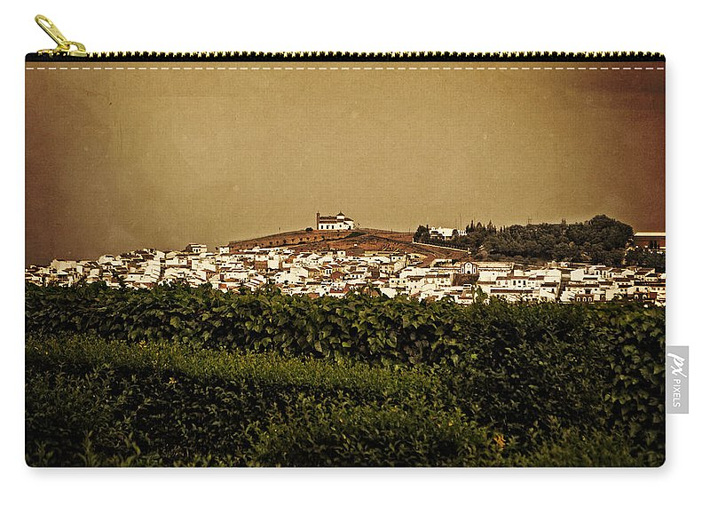 Church On The Hill Carry-all Pouch featuring the photograph Church On The Hill - Andalusia by Mary Machare