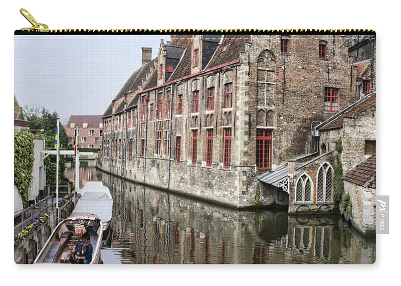 Europe Carry-all Pouch featuring the photograph Church Reflection by Crystal Nederman