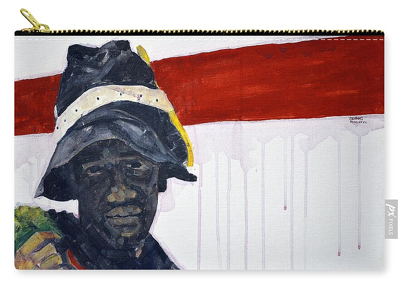 Man Carry-all Pouch featuring the painting Church Street Bootblack by Charles M Williams