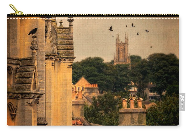 Church Carry-all Pouch featuring the photograph Churches In Town by Jill Battaglia