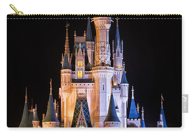 3scape Carry-all Pouch featuring the photograph Cinderella's Castle in Magic Kingdom by Adam Romanowicz