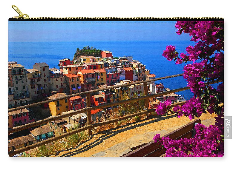 Cinque Carry-all Pouch featuring the photograph Cinque Terre 1 by Susan Rovira