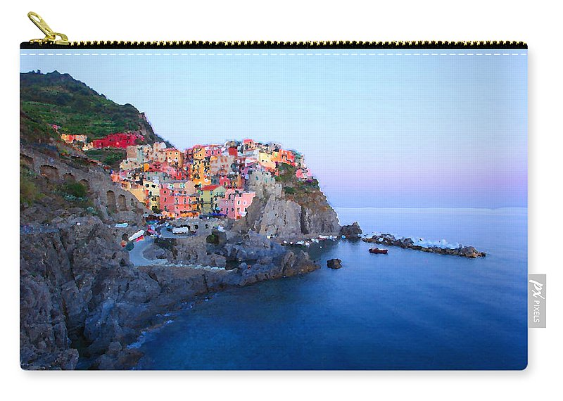 Cinque Carry-all Pouch featuring the photograph Cinque Terre 2 by Susan Rovira