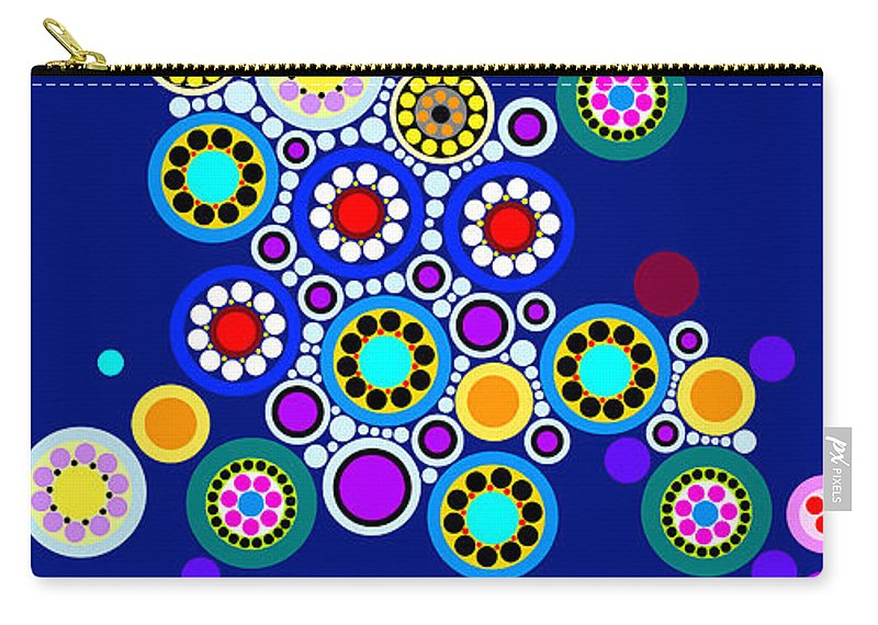 Art Carry-all Pouch featuring the painting Circle Motif 249 by John F Metcalf