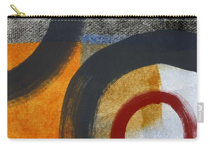 Circles Carry-all Pouch featuring the painting Circles 3 by Linda Woods