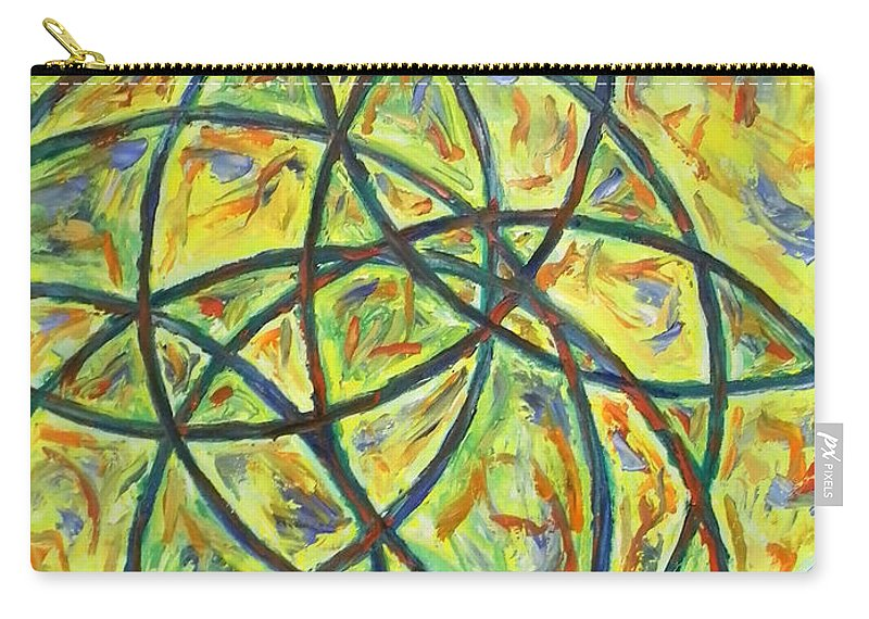 Abstract Carry-all Pouch featuring the painting Circles by Art by Kar