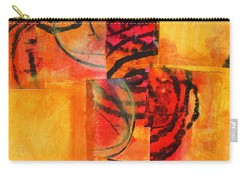 Abstract Carry-all Pouch featuring the painting Circles Squared by Nancy Merkle