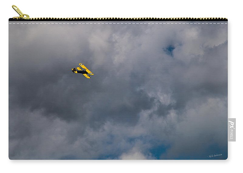 Circling Carry-all Pouch featuring the photograph Circling For 2nd Flyover by Mick Anderson