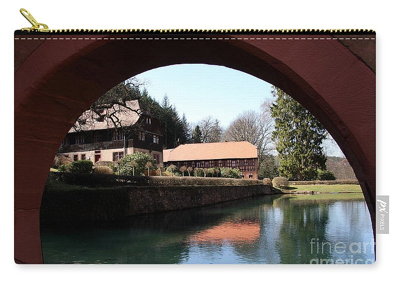Circular Arc Carry-all Pouch featuring the photograph Circular Arc View by Christiane Schulze Art And Photography