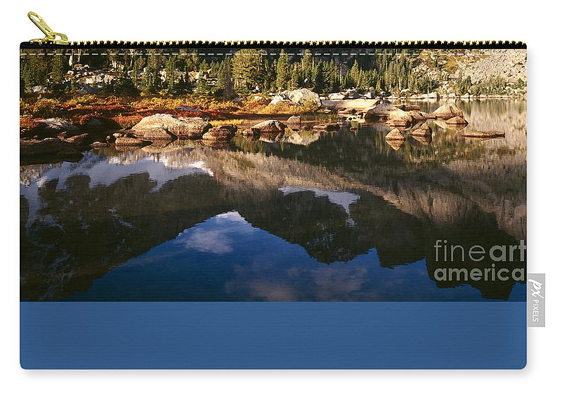 Continental Divide Carry-all Pouch featuring the photograph Cirque Of The Towers In Lonesome Lake 2 by Tracy Knauer