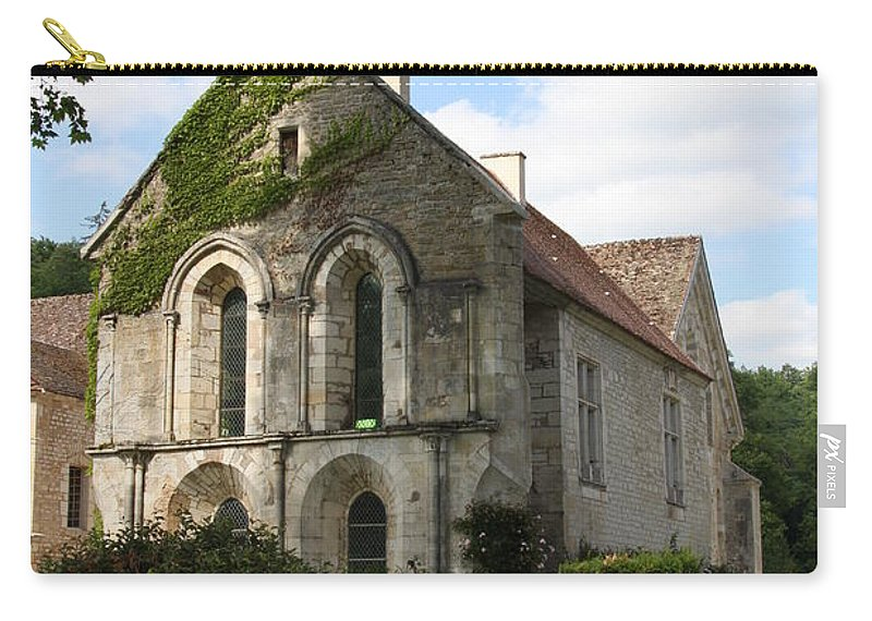 Abbey Carry-all Pouch featuring the photograph Cistercian Abbey Of Fontenay by Christiane Schulze Art And Photography