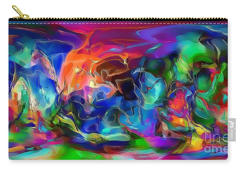 City Carry-all Pouch featuring the painting City 593-11-13 Marucii by Marek Lutek